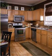 chic design kitchen colors with light brown cabinets paint for