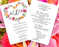 print your own wedding programs theme wedding program fan on the
