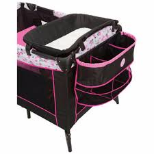 Playpen With Changing Table And Bassinet Playpen Baby Crib Portable Minnie Mouse Pink Bassinet Changing