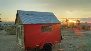 Red Barn Trailers Man Turns Cheap Trailer Into 40 Square Foot Micro Camper For Only