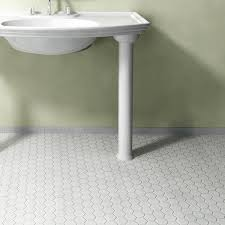 somertile 10 5x11 inch hex glossy white porcelain mosaic