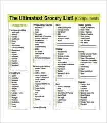 printable grocery list template 7 free pdf documents download