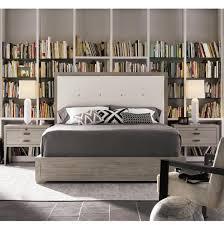 Tufted Bed Frame Queen Nolan Modern Grey Oak Tufted Headboard Queen Platform Bed Zin Home