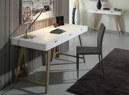 miro modern desk in white or anthracite grey with oak legs see