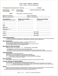 daycare contract form templates memberpro co