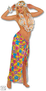 Hawaiian Halloween Costume Hawaii Wickelrock Yellow Hawaii Costume Horror Shop