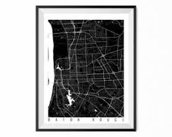 baton rouge city map etsy