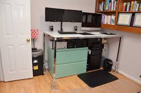 Diy Stand Up Desk Ikea by My Standing Desk For 50 Warfieldfamily