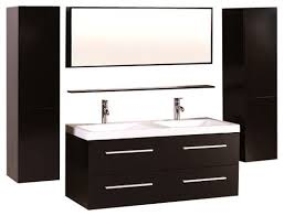 designer bathroom cabinets 48 floating bath cabinet sink with side cabinet and mirror