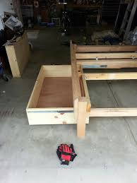 Bed Frame Plans With Drawers Platform Storage Bed Frame