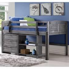 low loft bed twin maxtrix bunk w angled ladder 9 donco kids tree