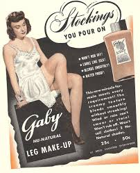 1940 u0027s wartime fashion paint your own stockings glamourdaze