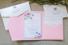 wedding pocket invitations custom pocket wedding invitations