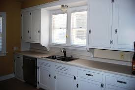 White Painted Cabinets With Glaze by Glazed Cabinets Before And After Image Of Oak Cabinets Painted