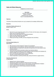 Sample Architect Resume Architect Resume In The Data Architect Resume One Must Describe