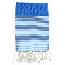 light blue kitchen towels febronie 100 light weight cotton fouta in striking blue u2013 sandy toes