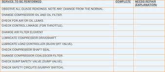 pm checklist example compressors fleetanswers com
