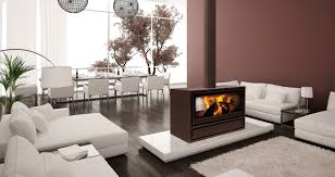 jide double sided wood burning stove for open plan rooms eurostove