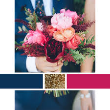 wedding color scheme inspiration navy raspberry gold