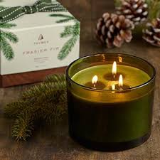 thymes frasier fir thymes frasier fir 3 wick candle adirondack store gallery