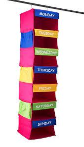 amazon com saganizer daily activity organizer kids 7 shelf