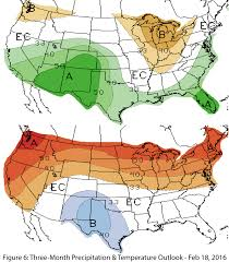 Map Of Arizona And New Mexico by Southwest Climate Outlook February 2016 Climas