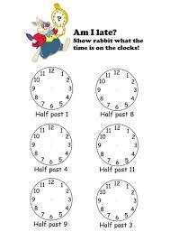 telling the time to o u0027clock half past by sophiemhorton teaching
