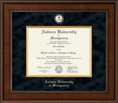 auburn diploma frame auburn montgomery diploma frames church hill classics