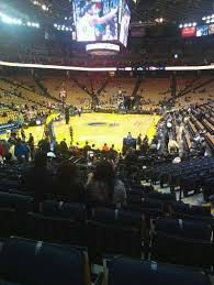 Oracle Arena Map Oracle Arena Section 121 Home Of Golden State Warriors