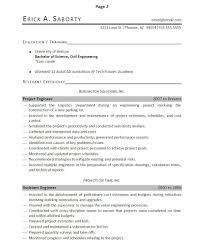 Engineering Internship Resume Highway Engineer Resume Free Resume Example And Writing Download