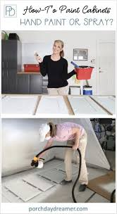 is it better to paint or spray kitchen cabinets painting or spraying cabinets what is better best