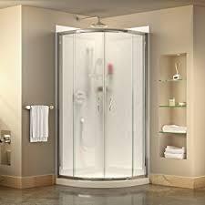 White Shower Door Dreamline Prime 36 In D X 36 In W Kit With Corner Sliding