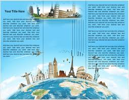 travel and tourism brochure templates free travel brochure template free