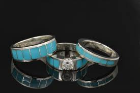turquoise wedding rings new turquoise wedding ring sets available hileman jewelry