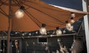 Edison Lights String by Socialite 20 U0027 Solar Patio Edison Led String Lights 1 Or 2 Pack