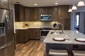 pictures of kitchens with dark cabinets and black appliances