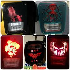 custom jeep tail light covers medium custom jeep tail light covers pair