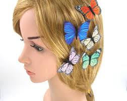 butterfly hair butterfly hair clip etsy