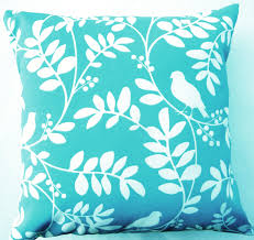 Turquoise Home Decor Accessories by Bedroom Beautiful Diamond Turquoise Pillow Cotton Fabric White