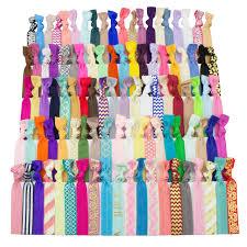 creaseless hair ties jlika elastic hair ties set of 100 colorful solids