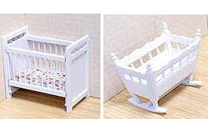 melissa u0026 doug classic wooden dollhouse nursery furniture set 4