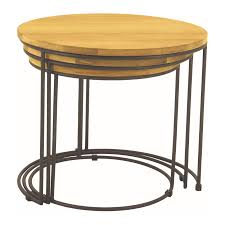 eligio nested coffee table set of 3 zillo hutch