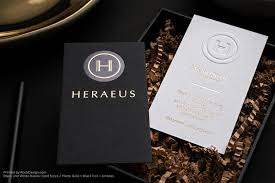black and white foil stamped embossed great business card design