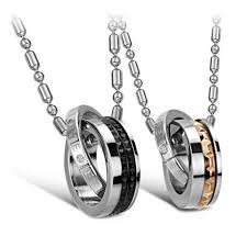 s day pendants two tone stainless steel s day pendant necklace gifts in