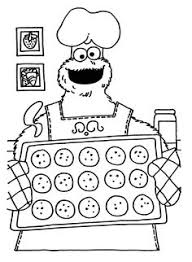 cookie monster coloring sheets print enjoy coloring