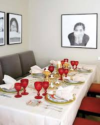 Christmas Dining Table Decorations Ideas by Simple Christmas Dining Table Decor With Scandinavian Style