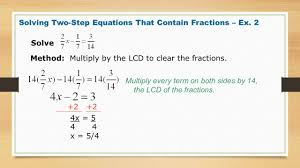 two step equations with fractions