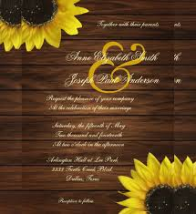 Sunflower Wedding Invitations Sunflower Wedding Invitations Templates 21 Sunflower Wedding