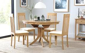 Extendable Dining Table And 4 Chairs Oak Extending Dining Table And Chairs Zagons Co