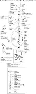 delta kitchen faucet parts diagram plumbingwarehouse com delta kitchen faucet parts for models 473